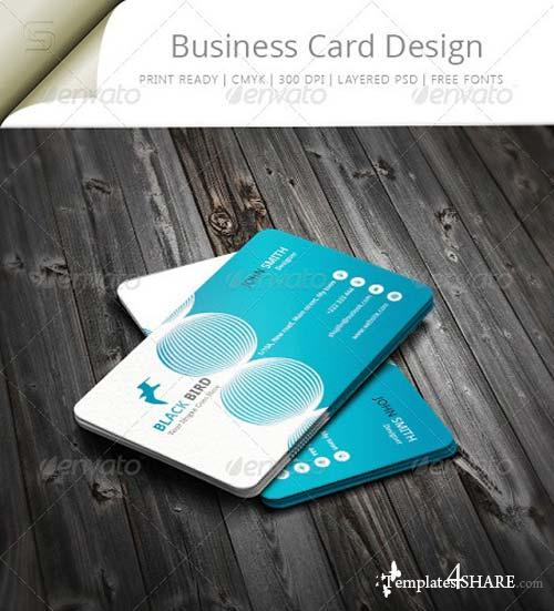 GraphicRiver Black Bird Business Card