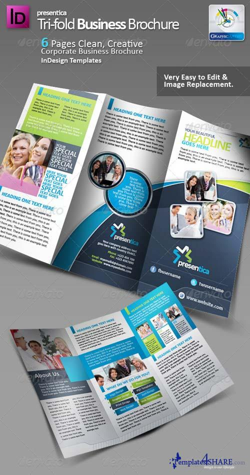 GraphicRiver Presentica Tri-fold Corporate Brochure