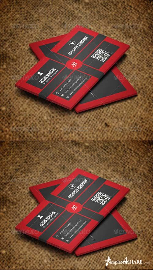 GraphicRiver Simple Retro Style Business Card v16