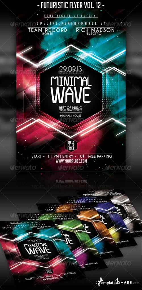 GraphicRiver Futuristic Flyer Vol. 12