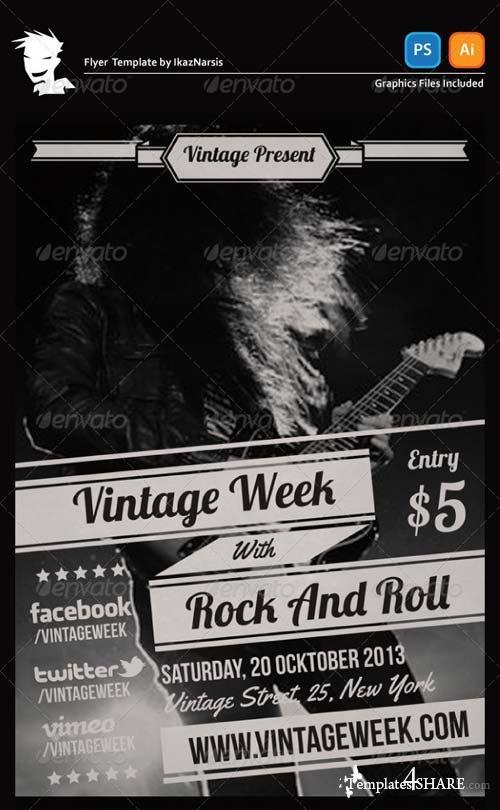 GraphicRiver Vintage Week Flyer Template