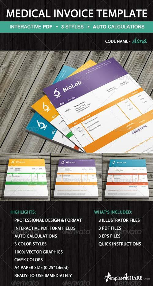 GraphicRiver Medical Laboratory Invoice Template - Dona
