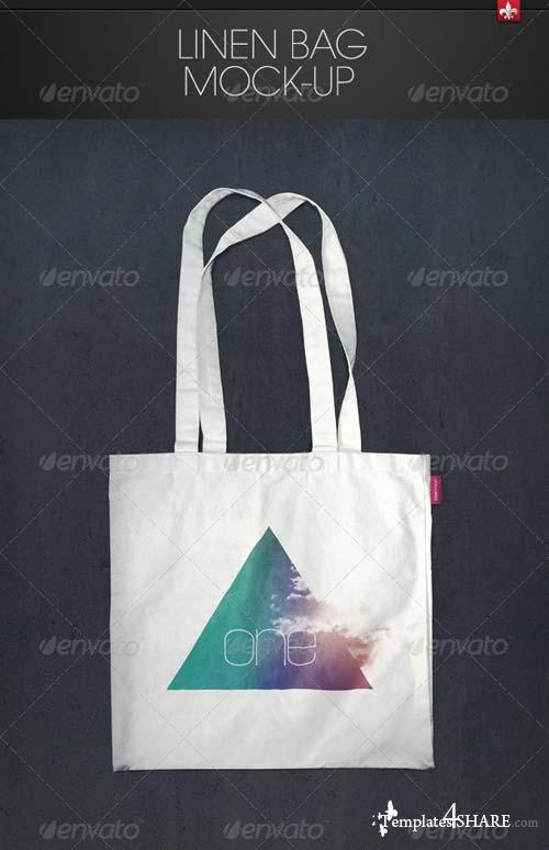 GraphicRiver Linen Bag Mock-up