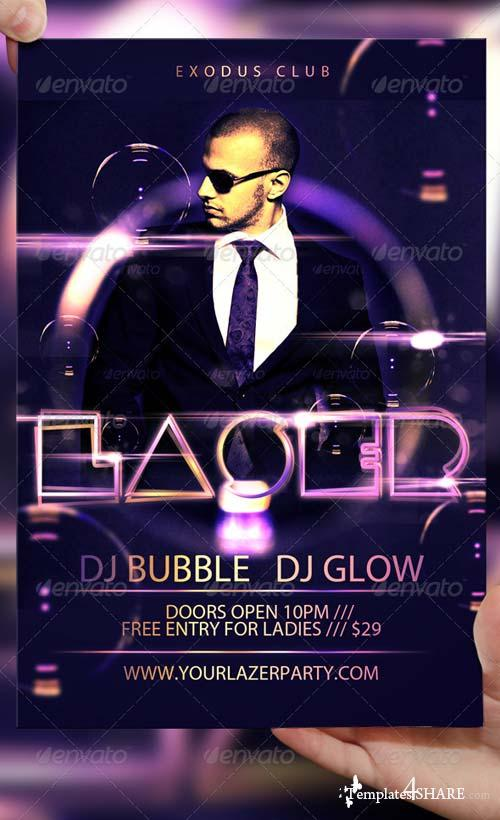 GraphicRiver Laser Party Flyer Template