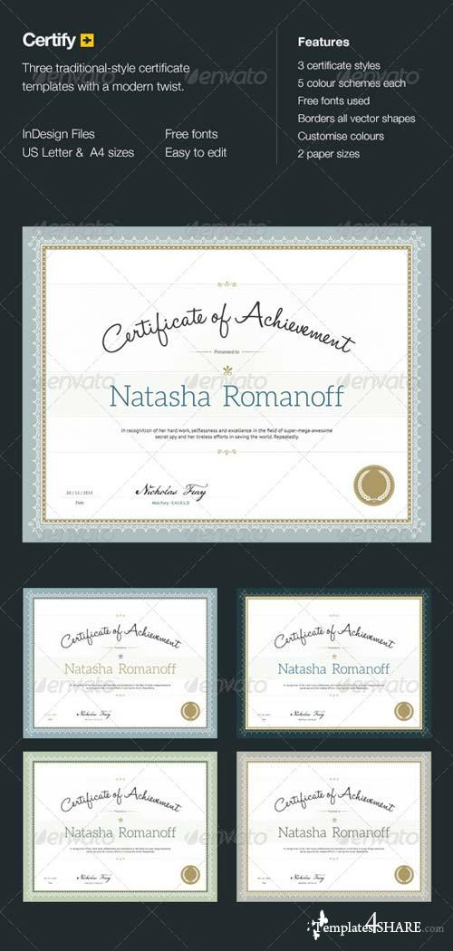 GraphicRiver Certify - Award Certificates