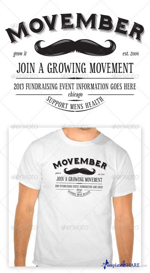 GraphicRiver Movember T-Shirt