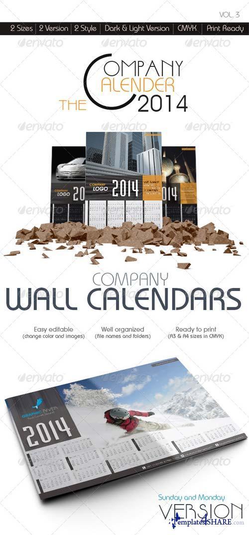 GraphicRiver The Company Wall Calendars