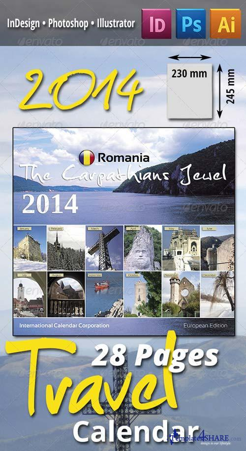 GraphicRiver 28 Pages 2014 Travel Calendar