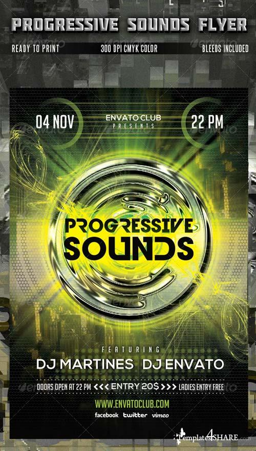 GraphicRiver Progressive Sounds Flyer