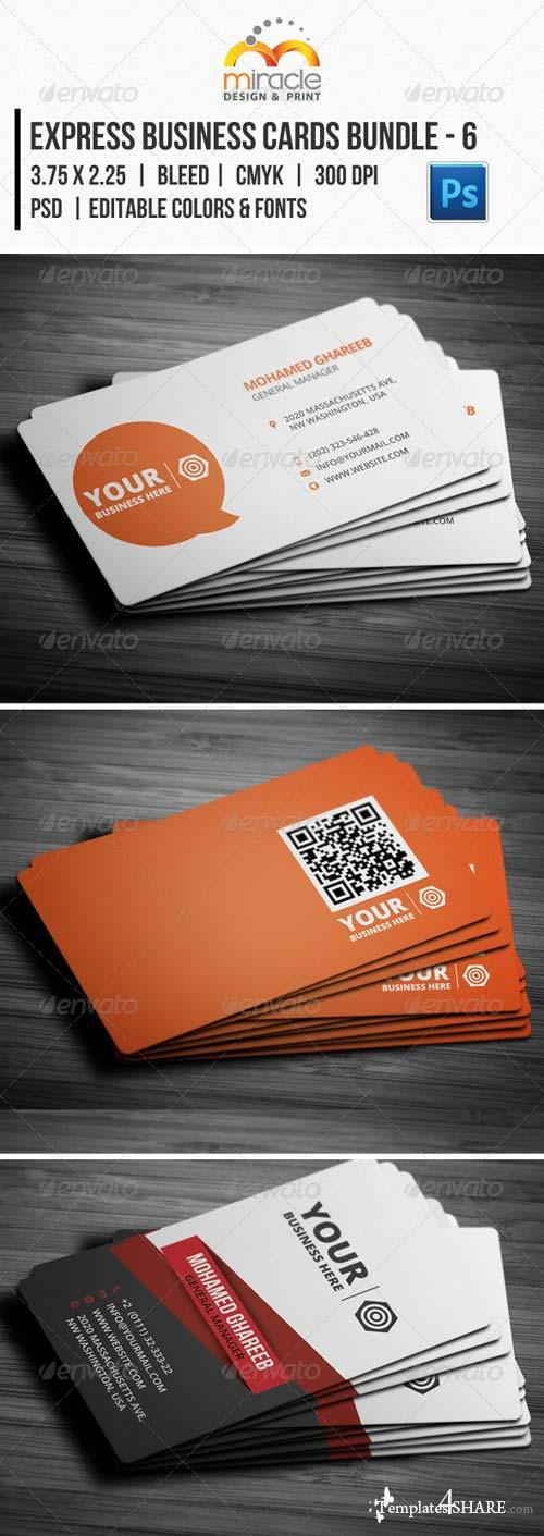 GraphicRiver Express Business Cards Bundle - 6