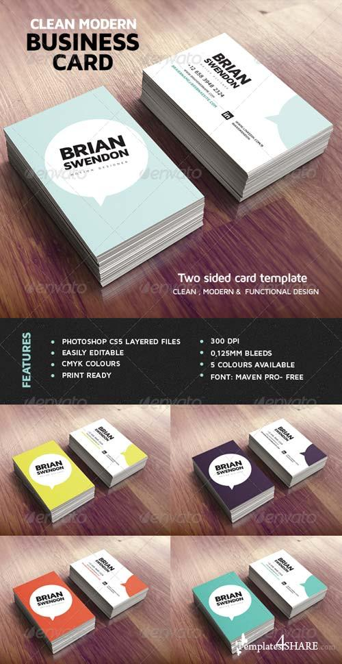GraphicRiver Clean Modern Business Card