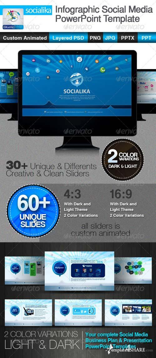 GraphicRiver Socialika Infographic Social Media PowerPoint