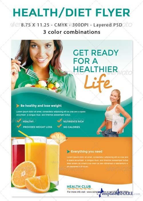 GraphicRiver Healthy Life / Diet Flyer