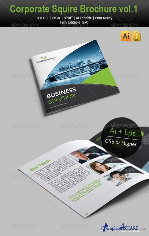 GraphicRiver Corporate Square Brochure vol.1