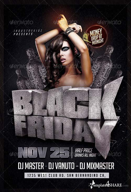 GraphicRiver Black Friday PSD Flyer