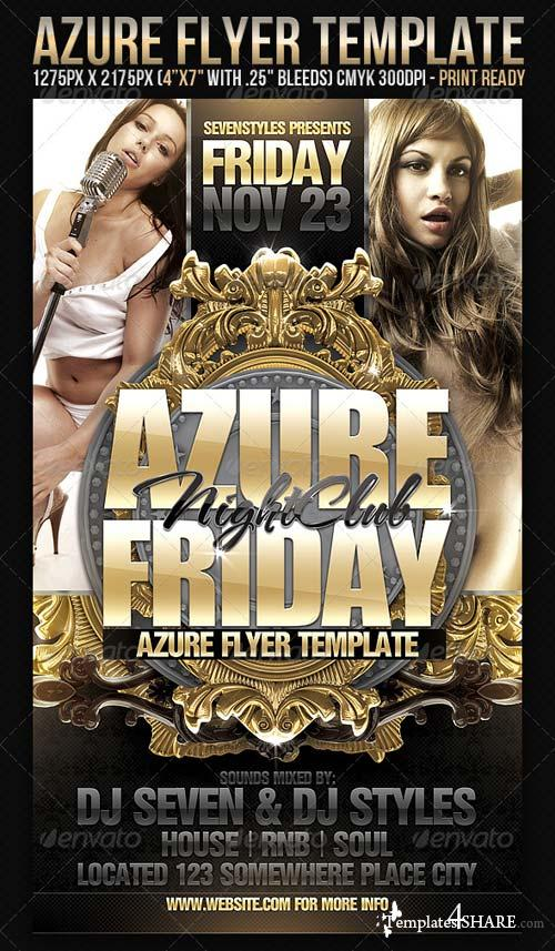 GraphicRiver Azure Flyer Template