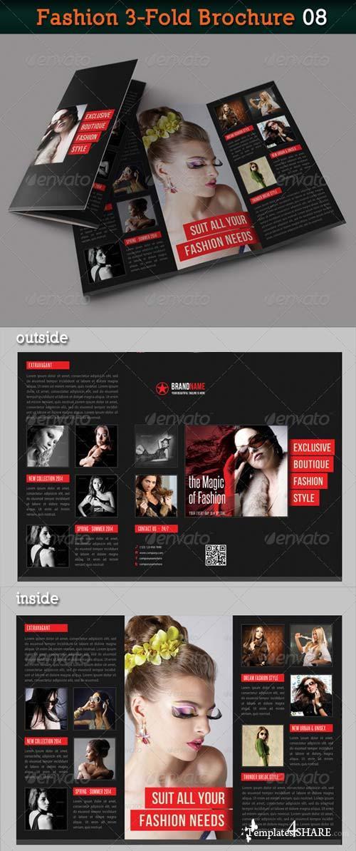GraphicRiver Fashion 3-Fold Brochure 08