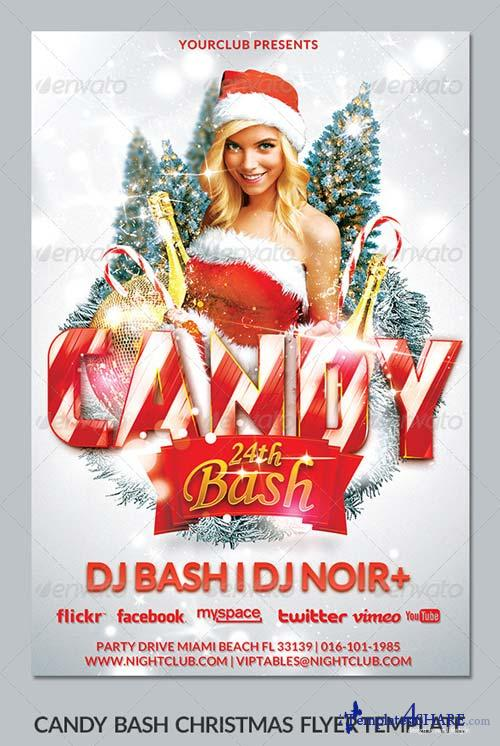 GraphicRiver Xmas Candy Bash Christmas Flyer Template