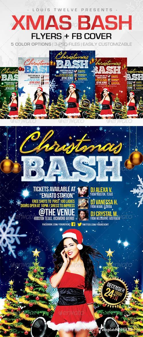 GraphicRiver Christmas Bash | Flyers + FB Cover