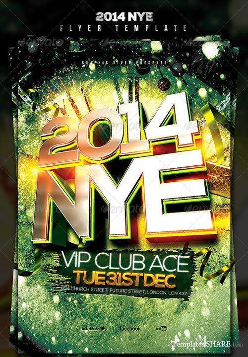 GraphicRiver 2014 NYE Flyer Template 2