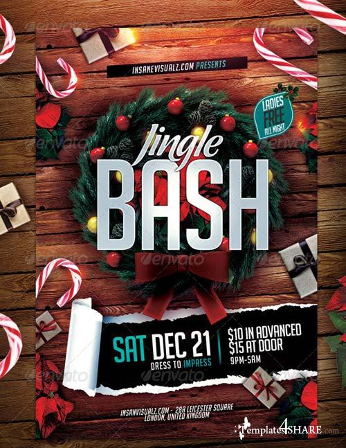 GraphicRiver Jingle Bash Xmas Flyer PSD