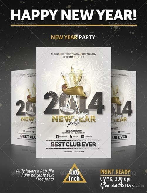 GraphicRiver New Year Party Flyer 6300375