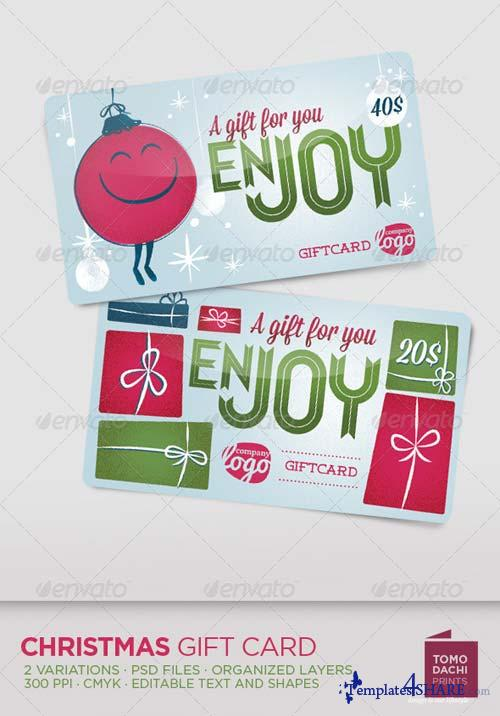GraphicRiver GIFT CARD for christmas