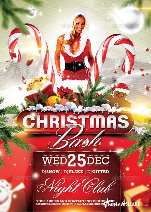 GraphicRiver Christmas Bash Flyer 6270324