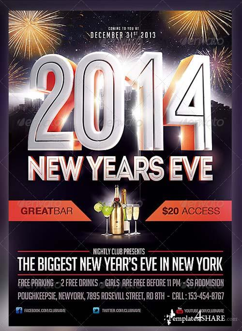 GraphicRiver 2014 New Years Eve Flyer Template