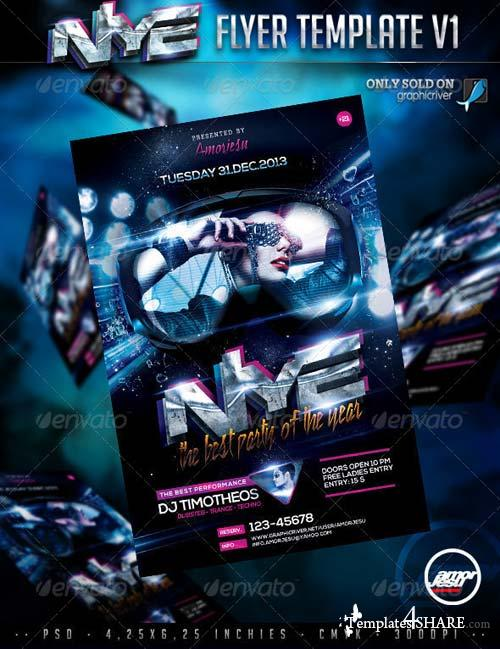 GraphicRiver New Year Eve Flyer Template V1