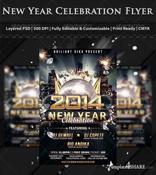 GraphicRiver New Year Party Celebration Flyer Template