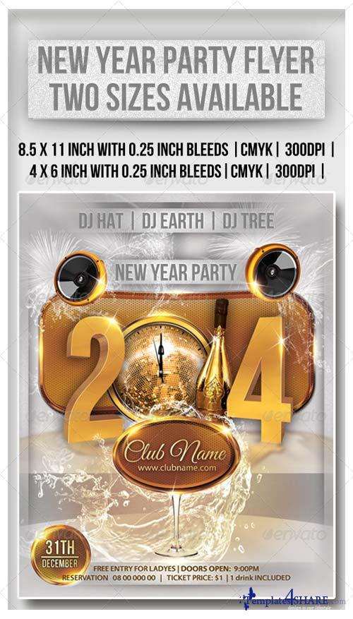 GraphicRiver New Year Party Flyer 6348587