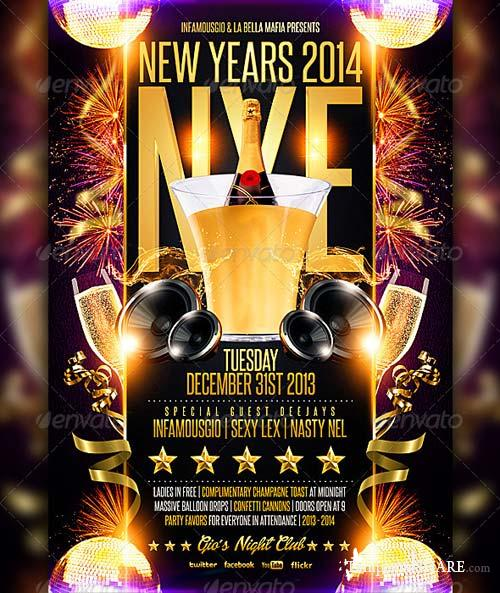 GraphicRiver New Years 2014 NYE