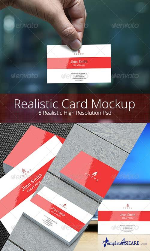 GraphicRiver Realistic Business Card Mockup