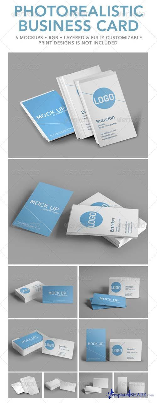GraphicRiver Photorealistic Business Card Mock Up