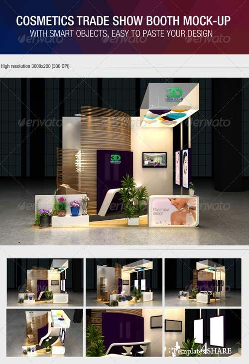 GraphicRiver Cosmetics Exhibition Booth Mock-Up