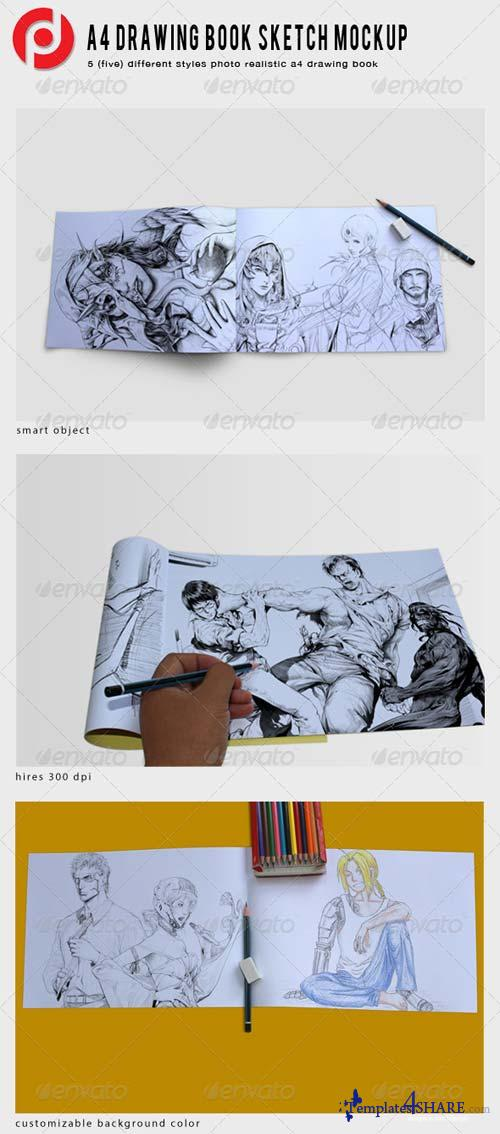 GraphicRiver A4 Drawing Book Mockup