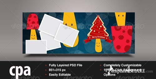 GraphicRiver Christmas Facebook Timeline