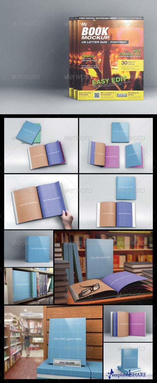 GraphicRiver MyBook US Letter Size Mock-up