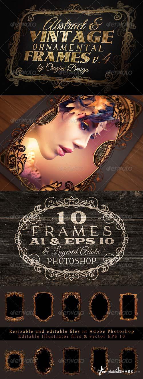 GraphicRiver 10 Frames Vol.4 - Vintage Ornament
