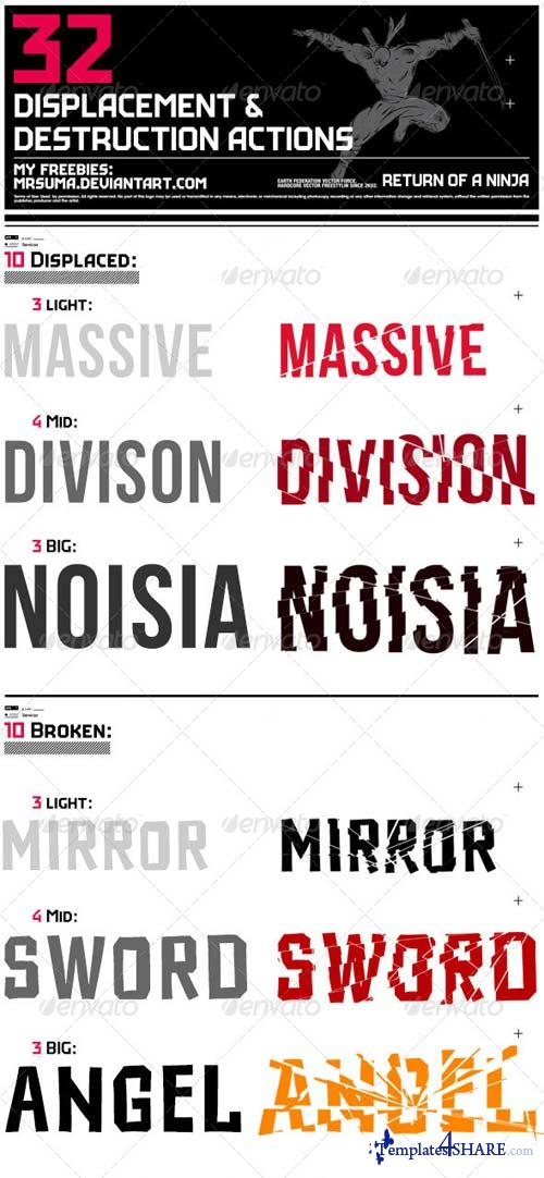 GraphicRiver 32 Displace & Distort Effect