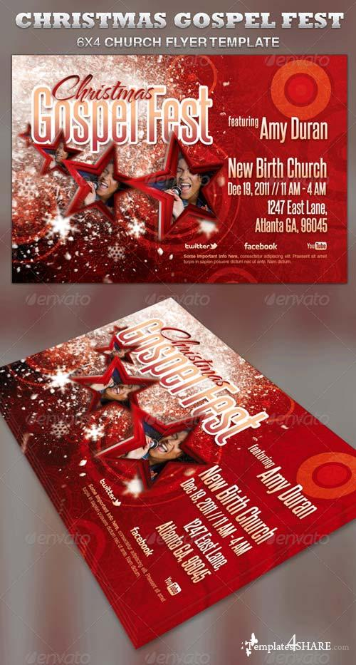 GraphicRiver Christmas Gospel Fest Church Flyer Template