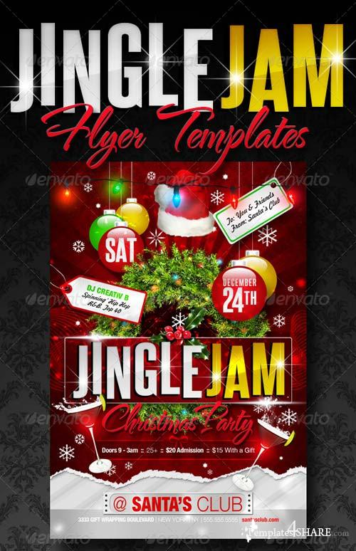 Graphicriver Jingle Jam Christmas Party Flyer Templates