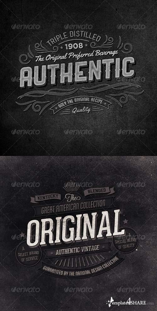 GraphicRiver Retro Typographic Insignia and Badges Vol 2