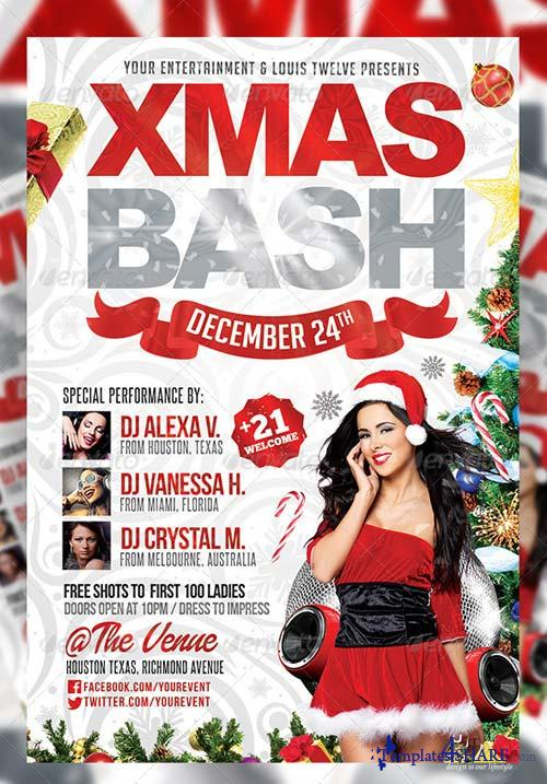 GraphicRiver Xmas Bash 2 | Flyer + FB Cover