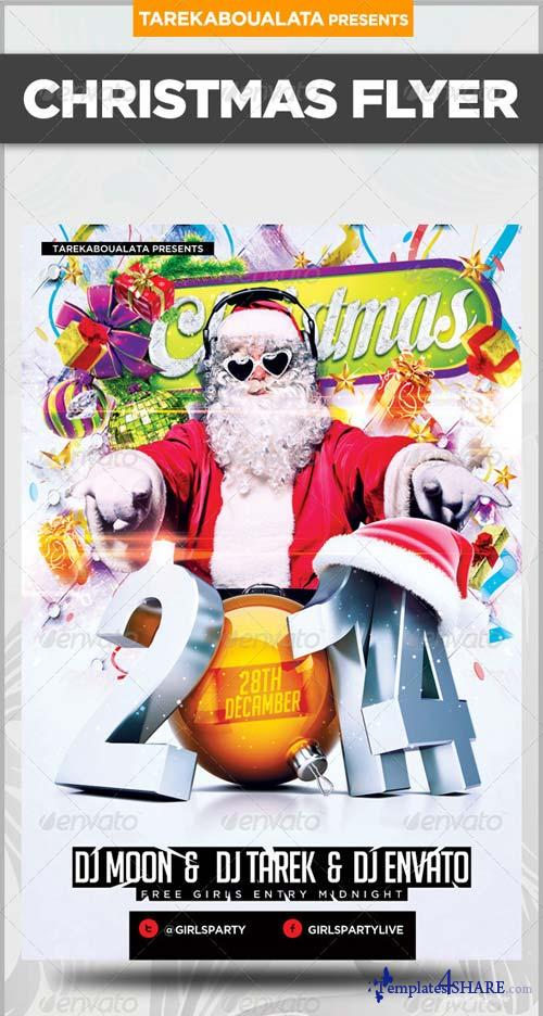 GraphicRiver 2014 NYE or Christmas Party Flyer Template