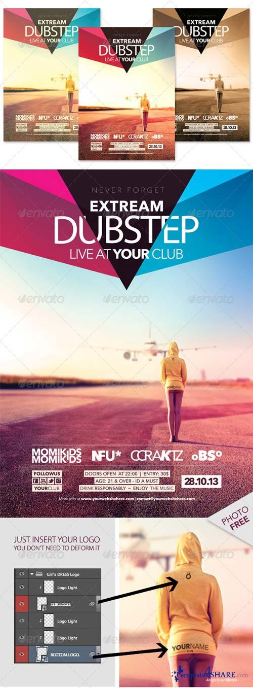 GraphicRiver Dubstep Indie Flyer Teample