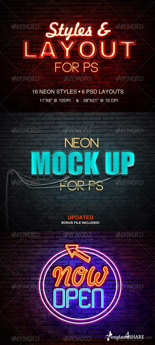 GraphicRiver Neon Sign Styles