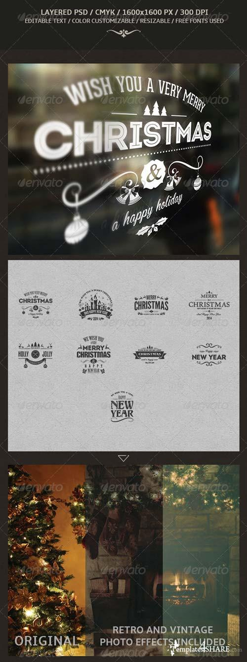 GraphicRiver Christmas And New Year Labels
