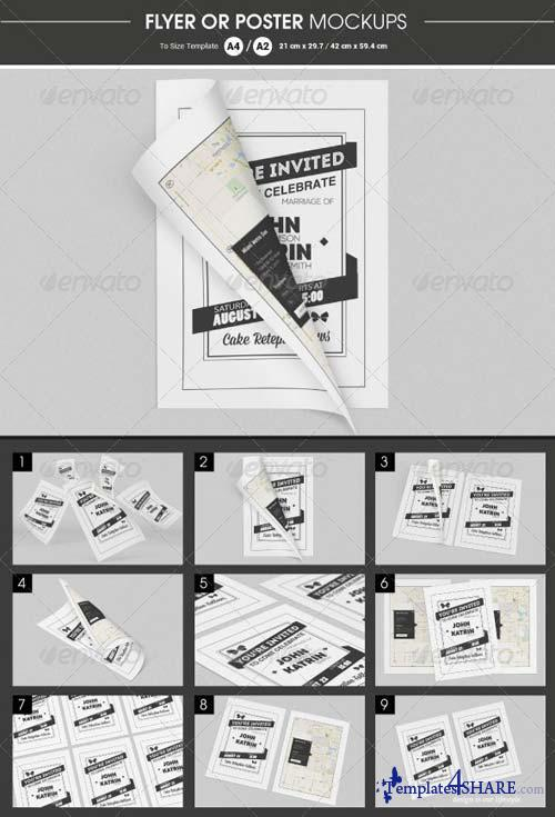 GraphicRiver Flyer / Poster Mockups 6415537